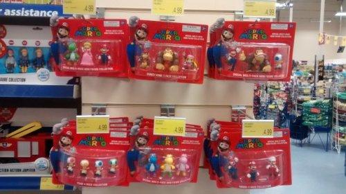 Super Mario figures £4.99 @ B&M