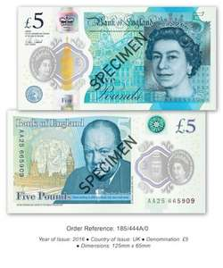 Get a Fiver for £5.00 but £4.50 with quidco cashback at Westminster