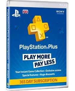 PlayStation Plus 365 Day Card £29.99 at Argos.co.uk