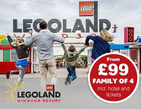 Legoland for family of four £99 budgetfamilybreaks