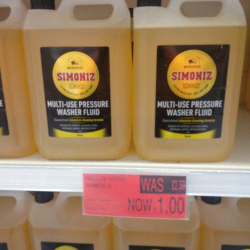 Simoniz 5ltr pressure washer fluid £1 @ B&M (INSTORE GRIMSBY)