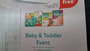 Heads Up Tescos Baby & Toddler Event From 7-19 September. BOGOF on Pampers Nappies - £8