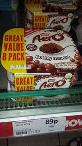 8 x 59g Aero bubbly mouse  - 89p @ Heron foods