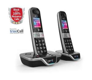 BT 8600 Cordless Home Phone with Answer Machine - Twin Handset Pack, Black £41.99 @ Amazon