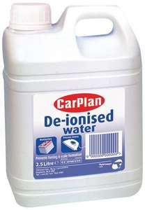 De-Ionised Water For Steam Irons - 2.5 Litre £1.15 Prime @ amazon (Plus £3.99 non-prime)