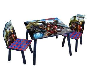 Avengers Wooden Table with 2 Chairs Set £9.99 @ B&M