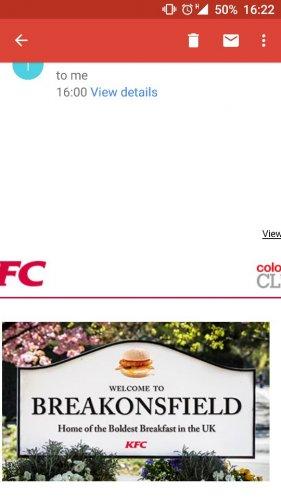 KFC BREAKFAST BEACONSFIELD SERVICE STATION £3.49