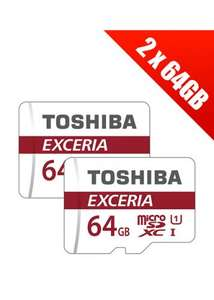 2 x Toshiba Exceria 64GB MicroSDXC Card Class 10 with SD Adapter (Multi- pack of 2 x THN-M301R0640EA) £18.99 @ base (sold by BaseCH)