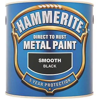 Hammerite Smooth Metal Paint Black 2.5Ltr £28.45 SCREWFIX... 20% off Hammerite metal