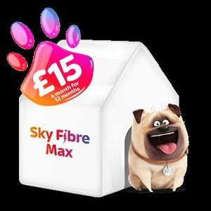 Sky fibre Max 76mbs 26. 22PM - Existing Tv customers