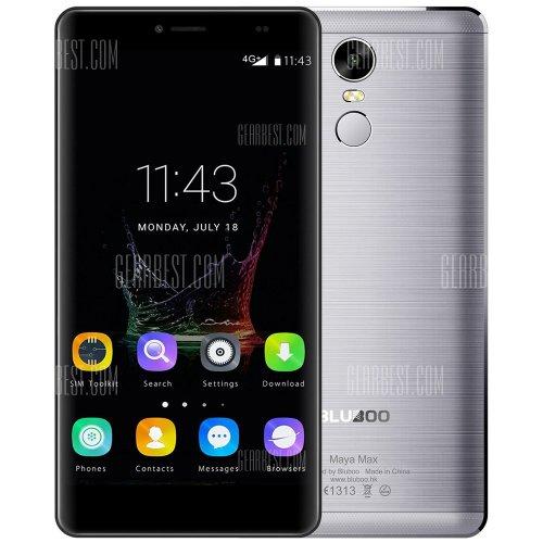 Bluboo Maya Max 4G+ Phablet  -  BLACK 192197101 Android 6.0 6.0 inch MTK6750 Octa Core 1.5GHz 3GB RAM 32GB ROM 13.0MP Rear Camera GPS OTG Fingerprint Scanner. £108.62 @ Gearbest