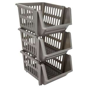 Wilko Stacking Baskets 3pk - £3