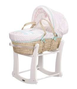 Minnie Mouse Moses Basket and Rocking Stand (was £99.99) Now £79.99 at Very