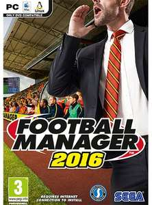 Football Manager 2016 PC/Mac ( £8.54 ish with cdkeys 5% fbook code ) £8.99