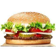 BURGER KING Whopper, regular fries, regular drink £2.15 with survey - FREE WHOPPER!