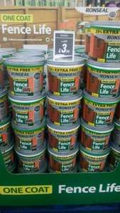 Ronseal,one coat, fence life paint now only £3.99 Watt Brother's