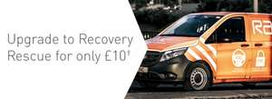 RAC Upgrade To Recovery Resue (UK wide) £10
