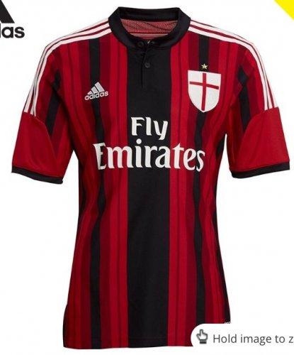 AC Milan 2014/15 Adidas Home Shirt £9.99 + £4.49 p&p @ MandM Direct