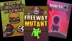 Free From HumbleBundle - Extreme Burger Defense, Freeway Mutant, and the 10 Second Ninja X GameMaker Edition demo for FREE