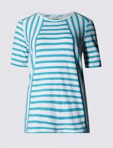 M&S - Pure Cotton Striped Top[8-22 sizes] NOW £2.39 WAS £19.50/ Linen V-Neck Top [12/14/16 size] £1.49