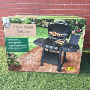Morrisons 3 burner gas BBQ - £40