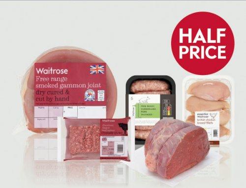 Half Price British meat event (475g Chicken Wings - 93p / 24 Aberdeen Angus meatballs - £2.19 / Half Leg of Lamb £5.39 / & More) @ Waitrose