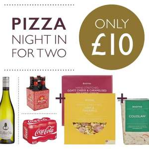 2 pizzas, choice of drink and a side £10 @ Booths (instore)