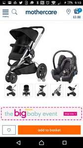 Quinny Buzz Xtra and Cabriofix Car Seat £359 @ Mothercare (delivered or C&C)