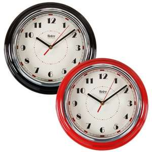 B&M - Retro Diner Wall Clock 30cm/3D Number Clock  now reduced to £1