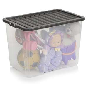 Wilko Storage Box with Lid 80ltr @ £5 each - free store delivery or £  sc 1 st  HotUKDeals : 80 ltr storage boxes  - Aquiesqueretaro.Com