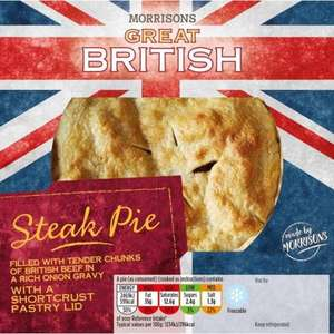 Morrisons Great British Pies 550g Was £3.48 Now £2