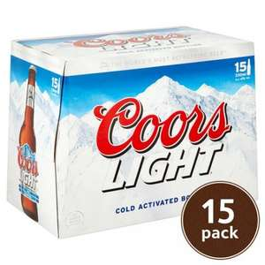 Coors Light 15 Pack Beer £6 @ Tesco's In-store only Deal