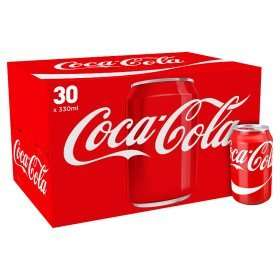 Coca Cola, Diet Coke or Coca Cola Zero (Pack of 30 x 330ml) ONLY £7.00 @ Asda  (23.3p per can)