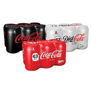 Coca-Cola or Diet Cola or Coca Cola Max Zero Sugar (6 x 330ml) was £3.00 now 2 Packs of 6 for £3.00 (Mix and Max available) ( INSTORE ONLY) so 25p a can @ Iceland