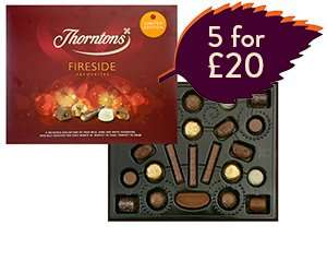 5 for £20 Chocolates @ Thorntons instore and online - plus 20% off online