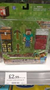 minecraft figure £2.99 @ Home Bargains - (Northfield)