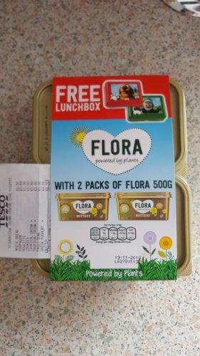 Flora Butter 2 Packs 500g with free lunch box £2.00 @ tesco Instore Stourbridge
