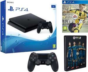 Playstation 4 Slim 1TB plus extra controller and Fifa 17 with Steelbook £329.99 @ Amazon