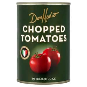 Don Mario chopped tomatoes (400g tins) - 4 for £1.00 or 29p each @ Heron