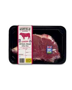 Aldi 8oz Sirloin Steak for £3.09