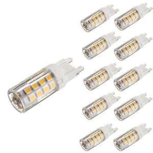 KINGSO 10 Pack G9 5W LED Halogen Bulb Replacement Warm White 2800-3200K 430LM Not Dimmable 35 SMD 2835 Omni Directional Ceramic Light Lamp [Energy Class A+] Sold by Lerpby and Fulfilled by Amazon £12.99 prime / £16.98 non prime