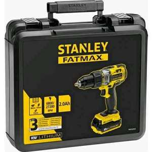 Homebase - Stanley Fatmax 18V Combi Drill with 2 x 2.0ah batteries and 1hr charger