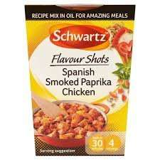Schwartz Flavour Shots 39p @ B&M [Spanish Smoked Paprika Chicken  or Thai red curry]