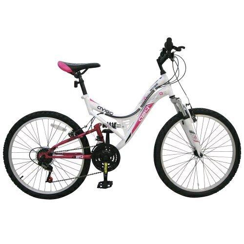 "TOYS R US (EXCLUSIVE) WAS £199 Now HALF PRICE @ £99.99 Avigo 24"" Rose Dual Suspension Bike"