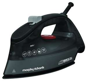 Morphy Richards 300254 Breeze Steam Iron, 2600 Watt - Black / Red at Amazon for £19.97 Prime or + £4.75 non Prime