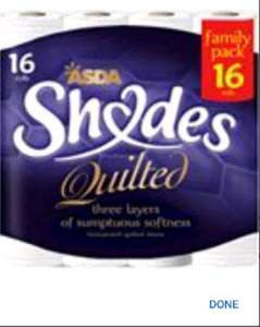 ASDA Shades Quilted 3Ply £2.50 Reduced To Clear