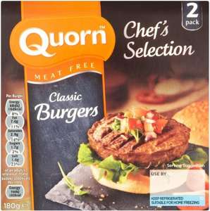 Quorn Chef's Selection Meat Free Classic Burgers (2 per pack - 180g) ONLY £1.00 @ Asda