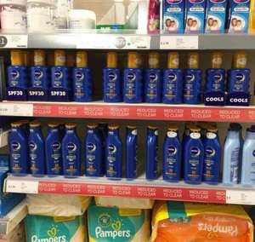 Nivea Sun SPF15 & SPF30 - £2.50 - AfterSun - £2.00 - Iceland instore