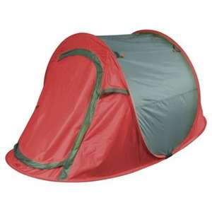 Outdoor 2-Man Grey & Red Pop Up Tent - Clearance instore £7.50 @ Tesco