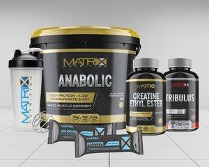 Matrix Anabolic Protein 5KG Bundle - free creatine, tribulus, flapjacks and shaker £34.99 @ Supplement Centre